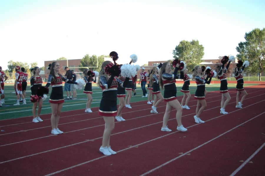 Varsity dance at the Fossil Football game.