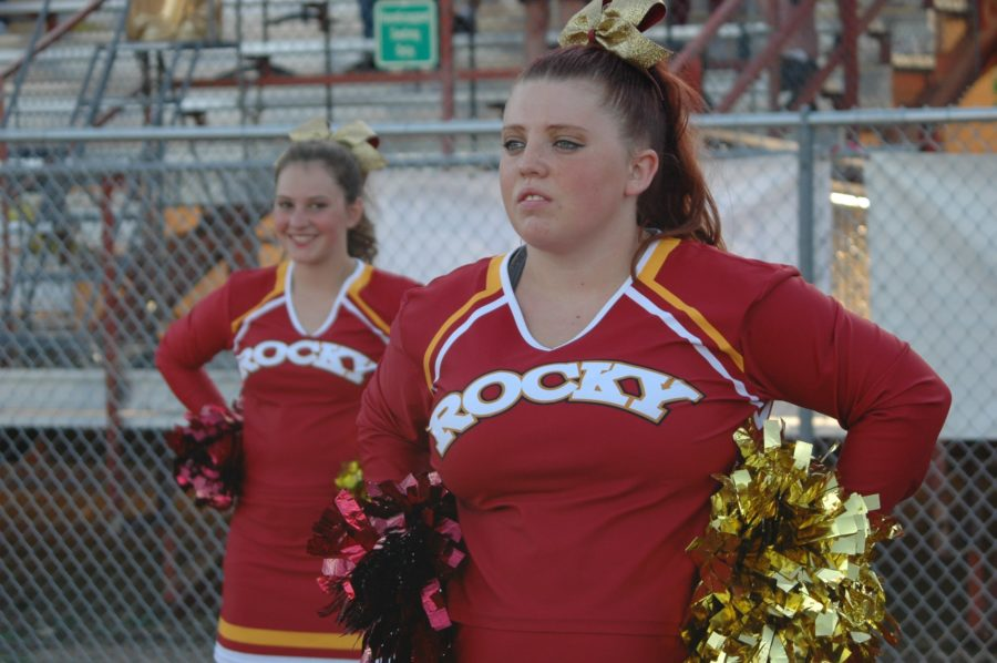 The Cheer Team on the sidelines.
