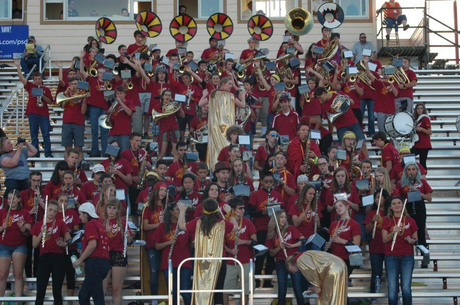 RMHS Spirit Band at the RMHS v Fossil game.