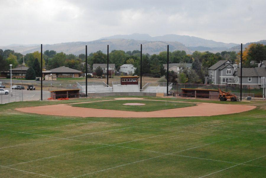 Construction on the baseball fields