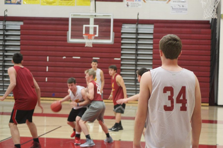 Boys basketball practice