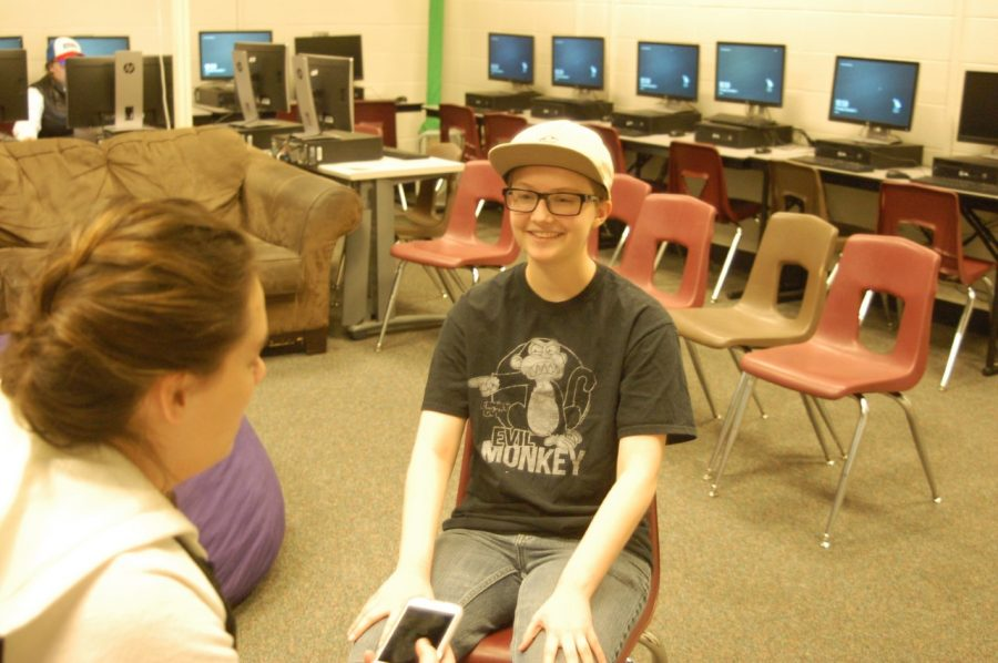 Bigfoot Club creator Holland Sullivan sits down to be interviewed by Hihglighter reporter Arrionna Farricker.