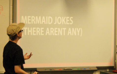 Bigfoot Club creator Holland Sullivan gives a presentation.