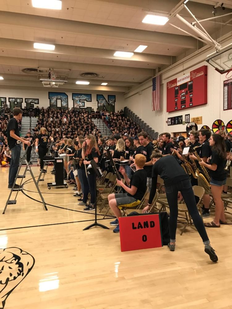 Band at back to school assembly