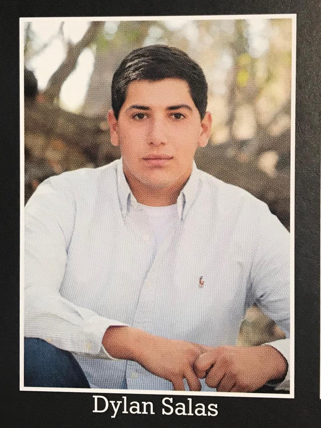 Dylan Salas' Rocky Mountain High School yearbook photo.