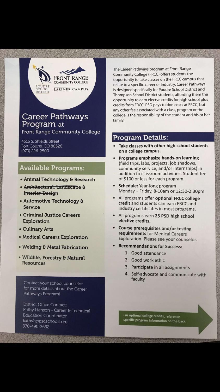 Career Pathways Program at Front Range