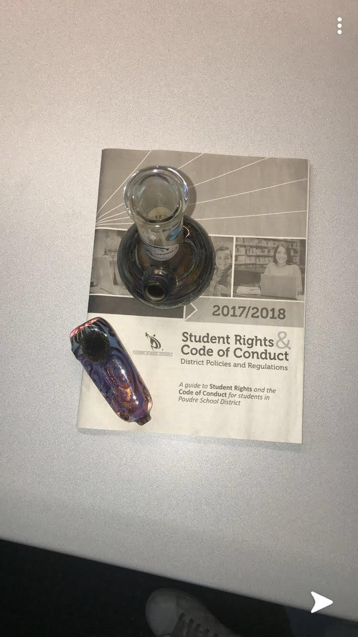 Confiscated bong and pipe placed on student code of conduct