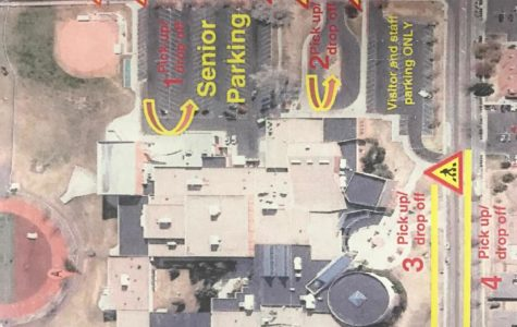 This map clearly shows the parking lots in which students are allowed to park and students need to look and see where their corresponding parking lot is. The overflow lot is now open to any student at Rocky.
