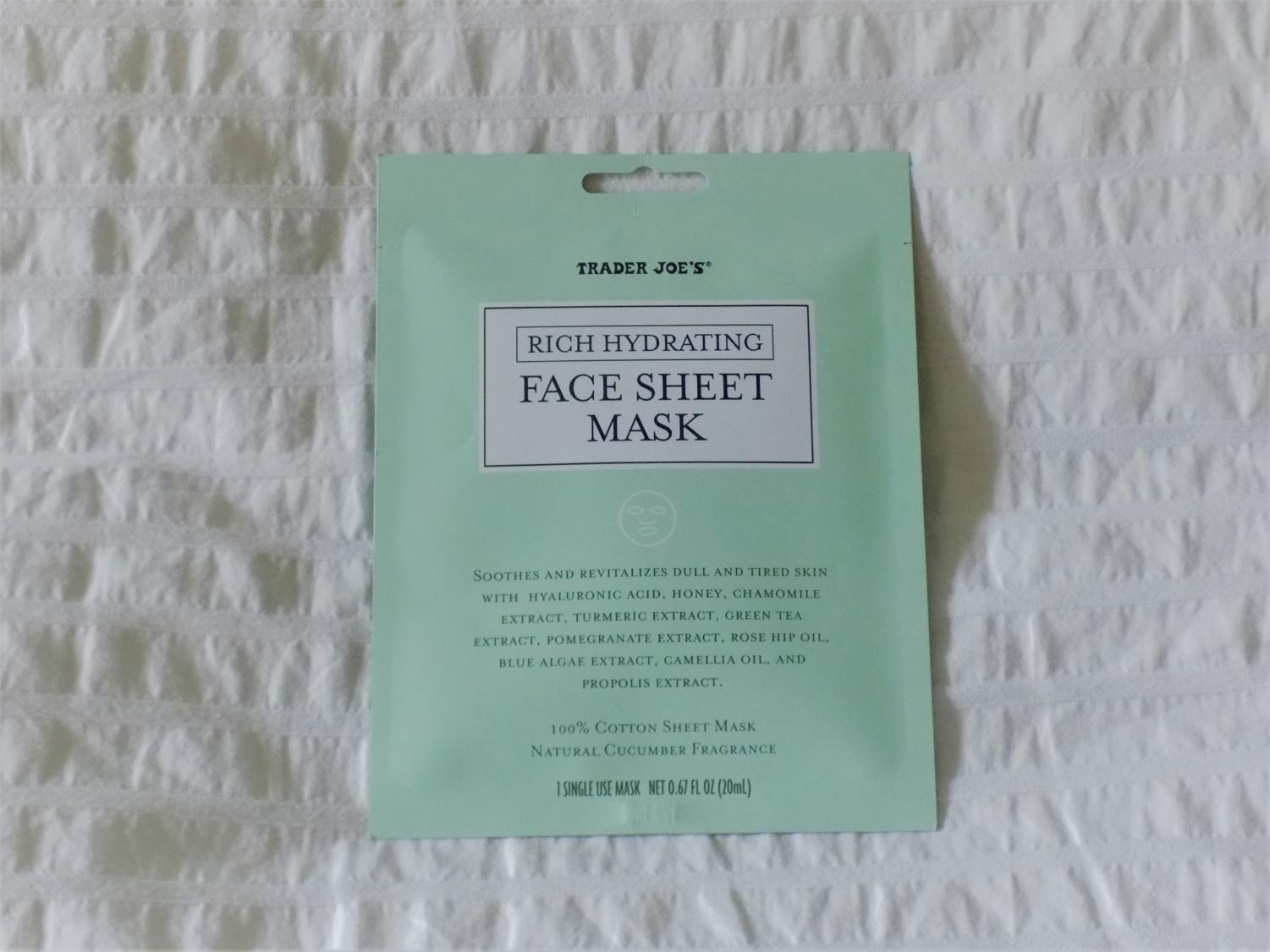 Trader Joe's has everything, even sheet masks!