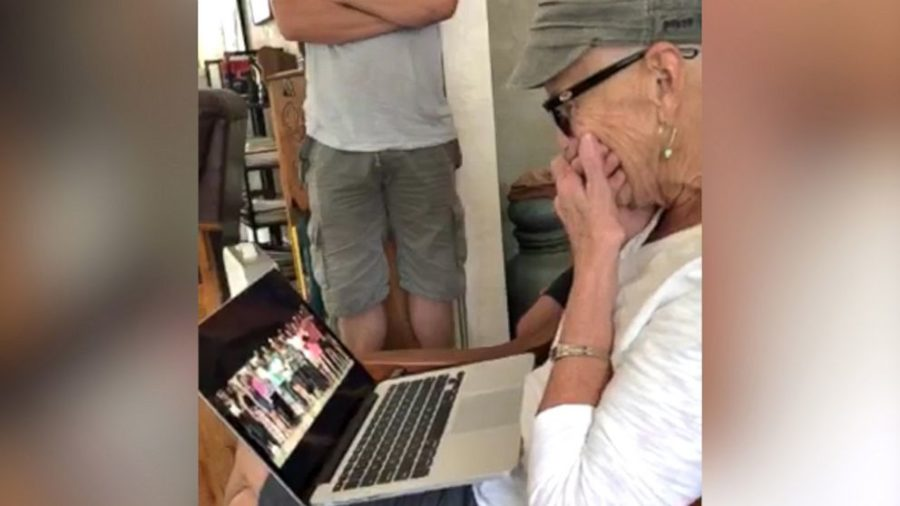 Facebook+photo+of+Ms+Lueck%27s+reaction+to+the+thoughtful+video+she+received.