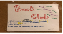 There's something for everyone here at Rocky. Book Club is great for readers to get together and chat about books.