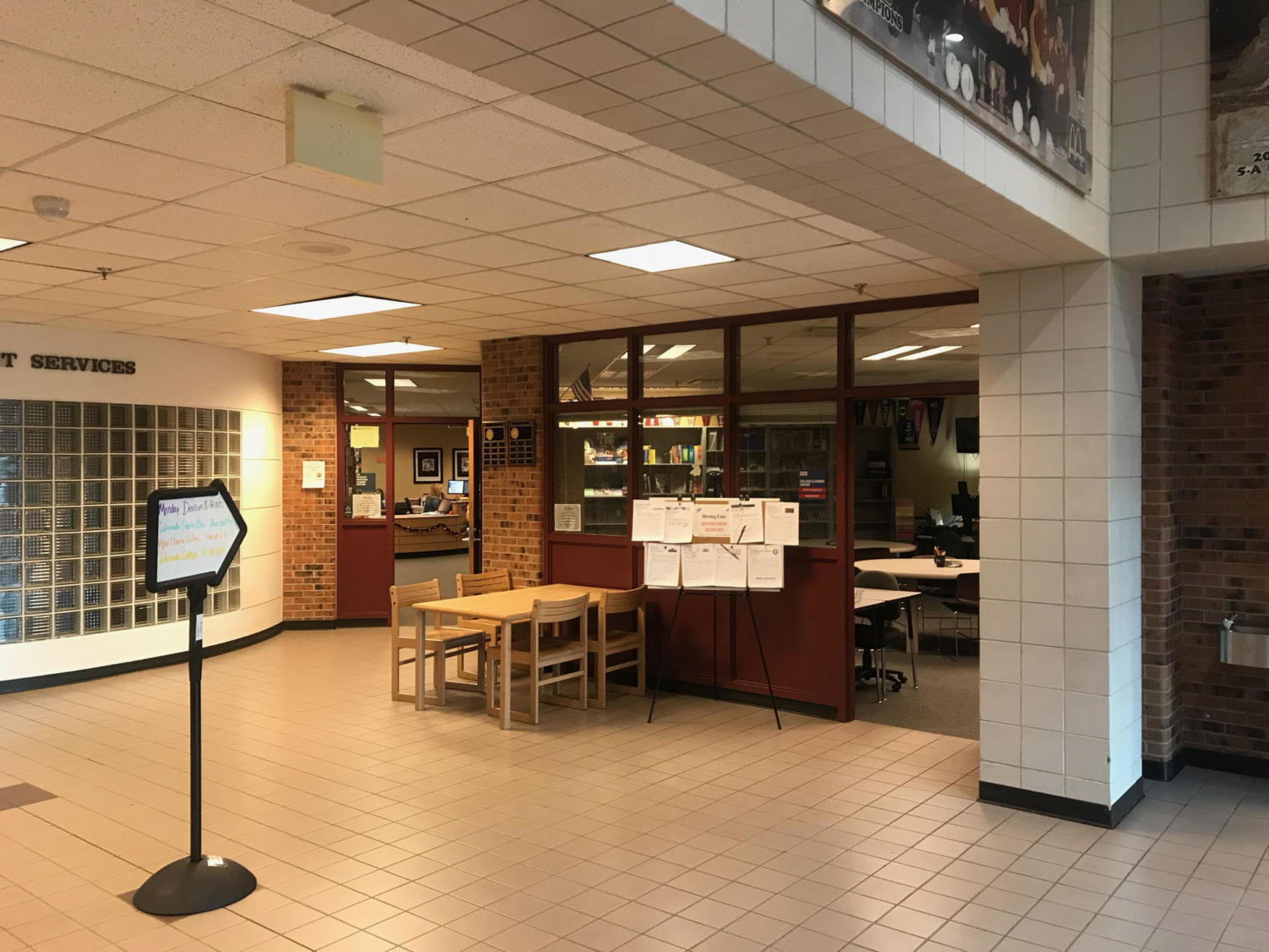 The College and Career Center is located near the Media Center; students can drop by any time.
