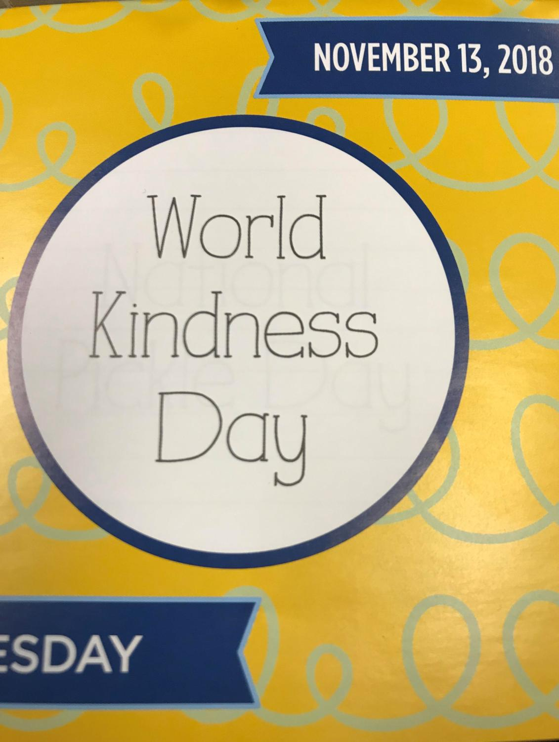 World Kindness Day was November 13th, but any day is a perfect day to start small acts of kindness.