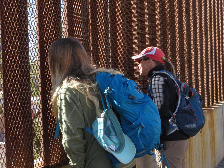 Brooke Giffin walks along the Arizona border.