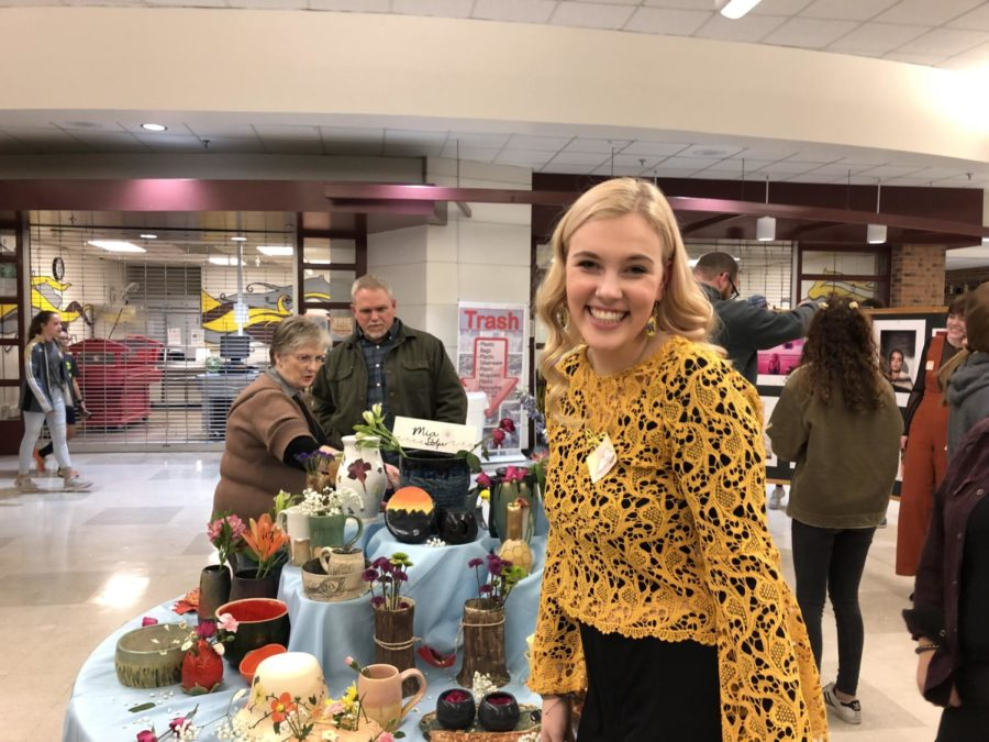 Mia Stople is cheerful about all her hard work she had but into her breathtaking pottery.
