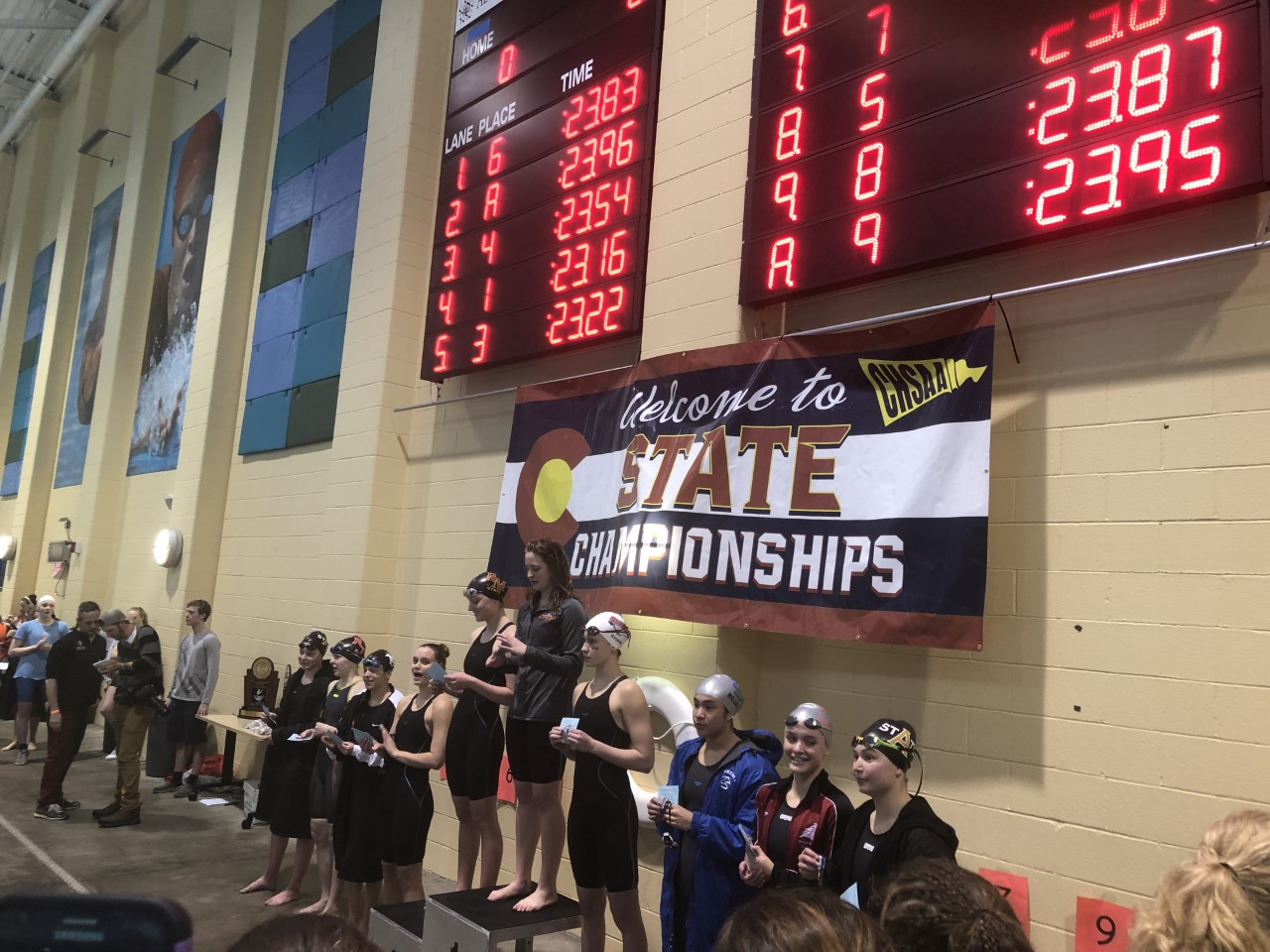 Meredith Smithbaker takes second place in the 50 Freestyle.