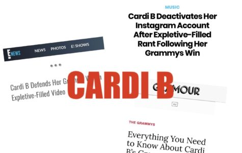 Cardi is all over the news with her 2019 Grammy win