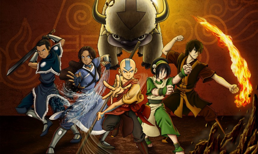 The+main+characters+of+the+Nickelodeon+show+%22Avatar%3A+The+Last+Airbender.%22+