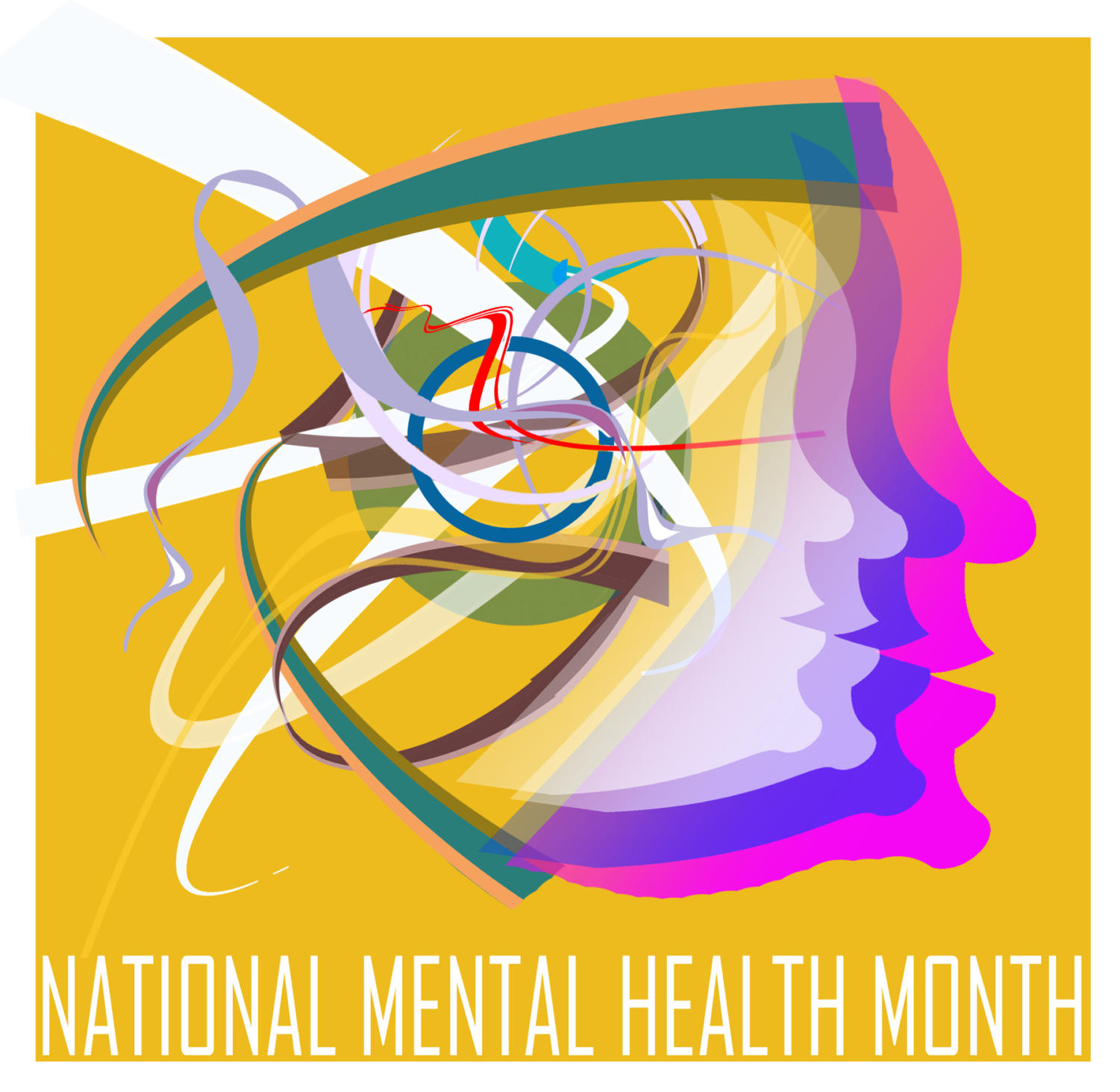 OFFUTT AIR FORCE BASE, Neb. -- May is National Mental Health Month and according to the professionals of the 55th Medical Group people can ensure good mental health by reducing stress. Stress can be reduced by getting enough sleep, eating right, exercising and eliminating destructive habits. U.S. Air Force Graphic by Jeff W. Gates