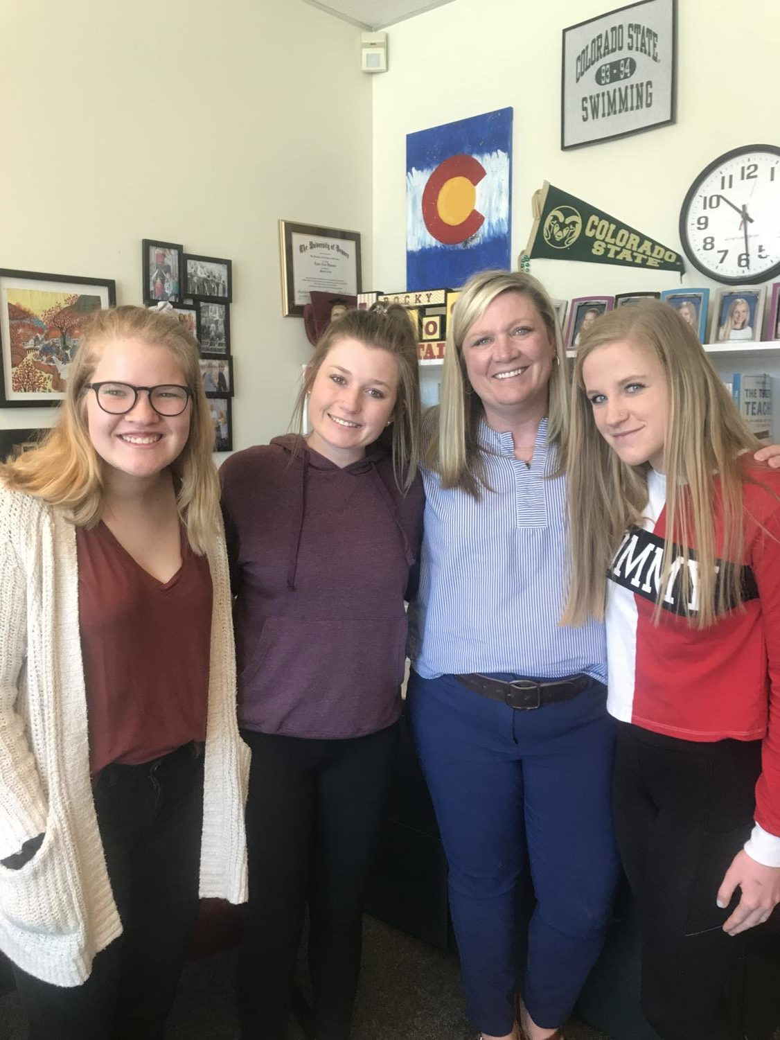 Ms.+Nickel%2C+one+of+the+assistant+principals%2C+has+three+of+her+seven+daughters+at+Rocky.+The+oldest%2C+senior+Katie+Thomas%2C+loves+all+the+free+food+in+the+office+and+the+fact+that+her+mom+saves+some+for+her.+Katie%E2%80%99s+sophomore+sisters+Avery+and+Elliana+like+that+when+they+forget+to+get+their++permission+slip+signed%2C+they+can+just+go+see+her%2C+and+that+they+can+talk+to+her+whenever+they+want.+Avery+and+Katie+both+hate+the+fact+that+their+mom+calls+them+by+their+childhood+nicknames.+When+it+comes+to+Elliana%2C+she+is+not+a+fan+that+kids+put+down+her+achievements.+%E2%80%9CA+lot+of+people+told+me+I+only+got+into+Peers+because+of+my+mom%2C+instead+of+just+being+happy+for+me.%E2%80%9D