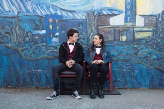 A shot from the show of Clay Jensen and Hannah Baker.
