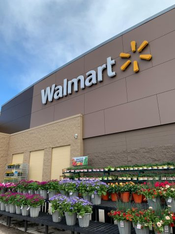 Students often work minimum wage part-time jobs at places like Walmart. Walmart has hired 150,000 new employees to keep up with demand for groceries and other products during the pandemic.