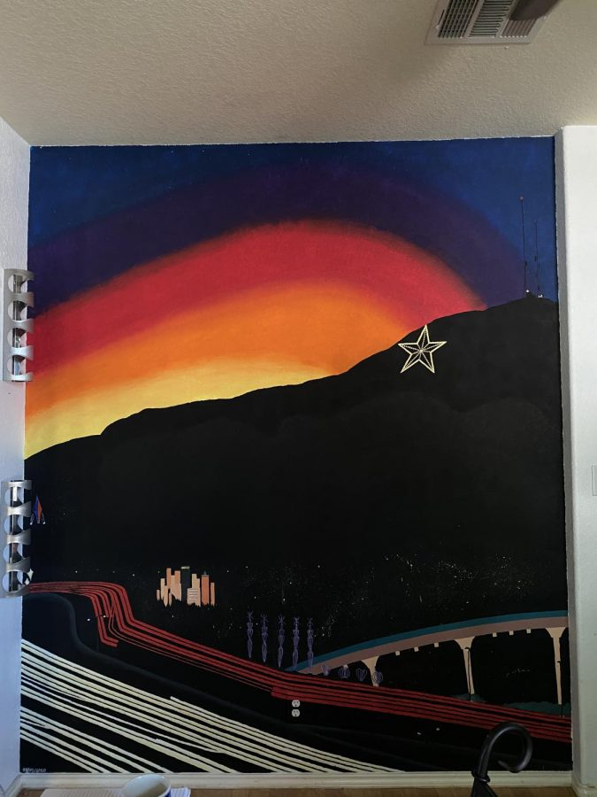 The El Paso Sunset Mural that I painted for my father.