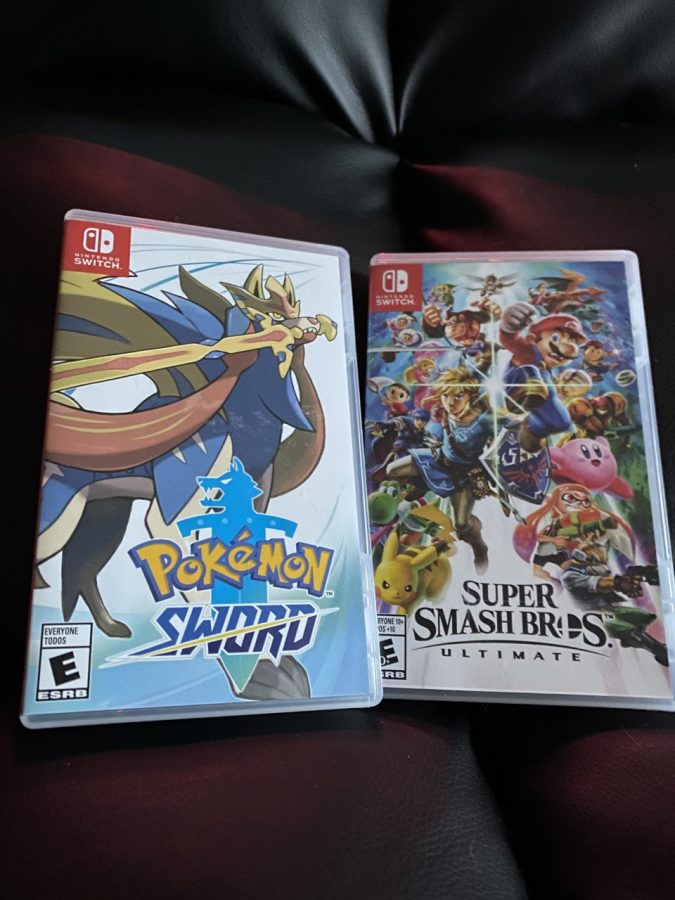 These are two of Nintendo's masterpieces--side by side--Pokemon and Super Smash Bros.